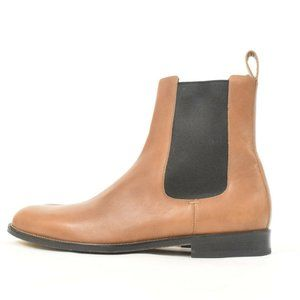 Gucci Saddle Brown Leather Pull-On Chelsea Boots